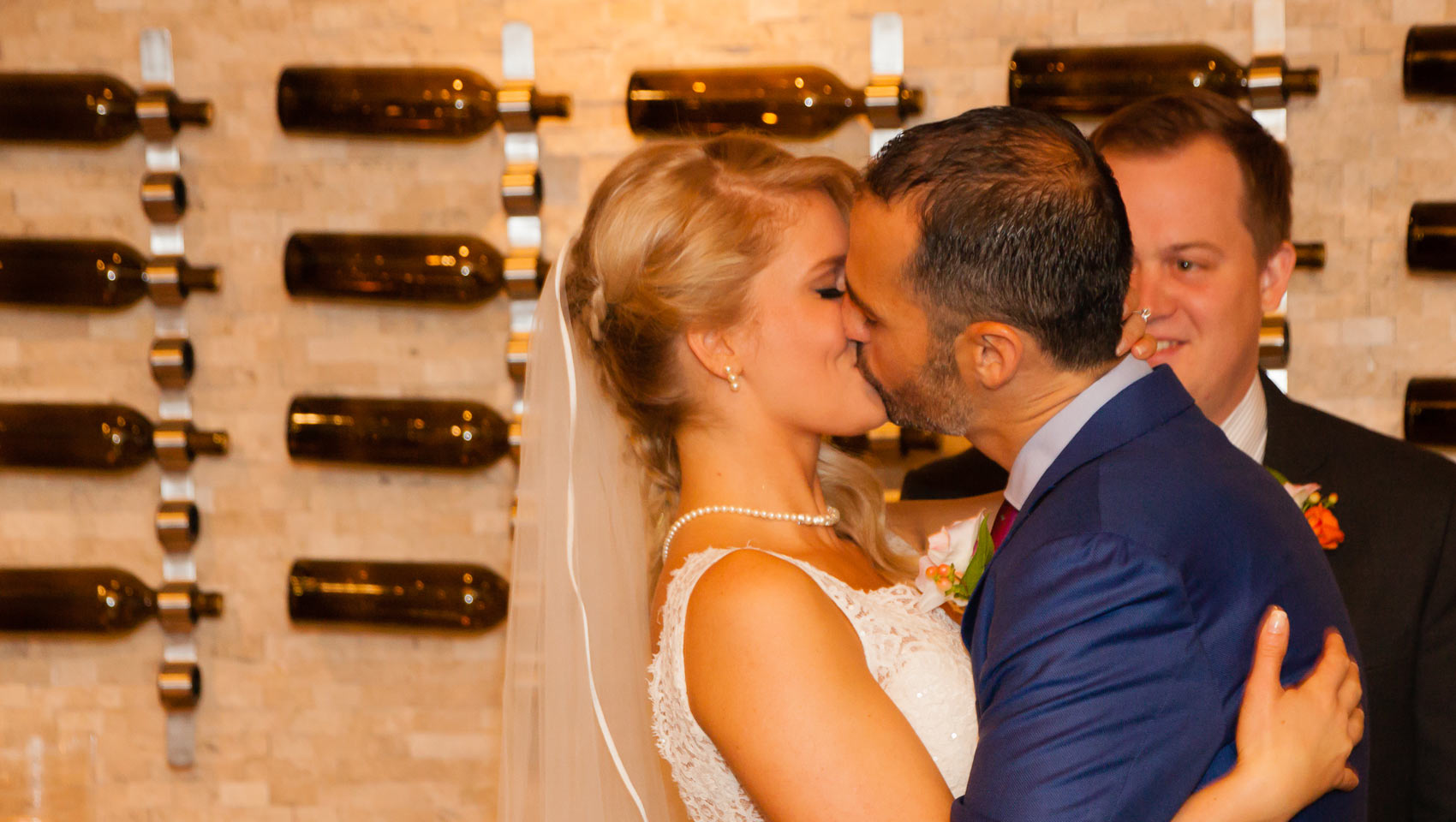 Monaco Denver Hotel Real Wedding Kiss