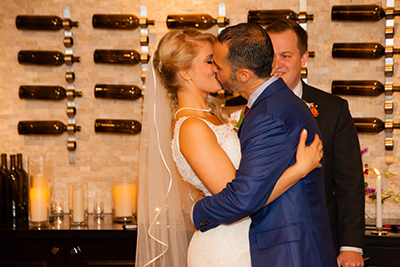 Kimpton Monaco Denver Hotel Wedding Kiss