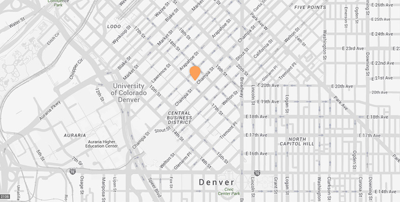 Downtown Denver Map | Kimpton Hotel Monaco Denver on
